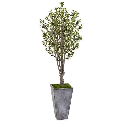 6 Olive Tree in Stone Planter Silk