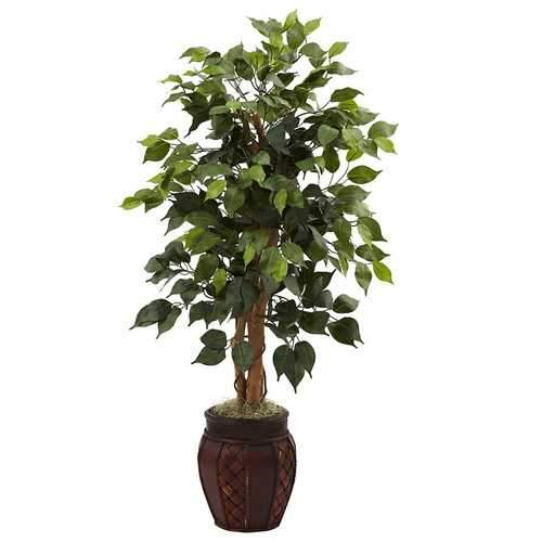 44 Ficus Tree w/Decorative Planter Silk