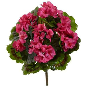 Geranium Artificial Bush UV Resistant (Indoor/Outdoor) (Set of 4) Silk Plants