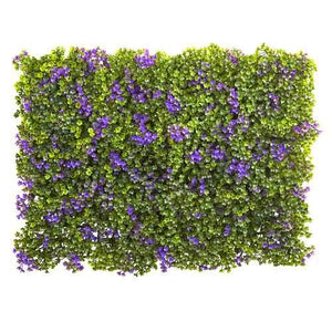 6 x Purple & Green Clover Mat (Set of 12) Silk Plant