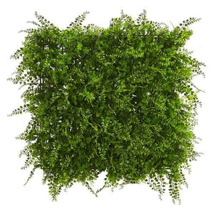 20 x Lush Mediterranean Artificial Fern Wall Panel UV Resistant (Indoor/Outdoor) Silk Plants