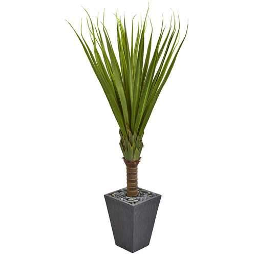 5.5 Spiky Agave Artificial Plant in Slate Planter Silk Plants