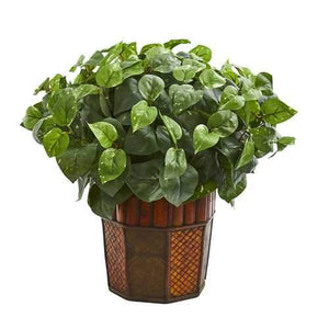 Pothos Artificial Plant in Decorative Planter Silk Plants