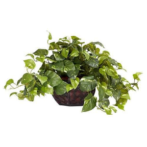 Pothos w/Decorative Vase Silk Plant (Same as 6635)