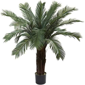 4 Cycas Tree UV Resistant (Indoor/Outdoor) Silk Plant