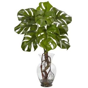 Monstera Plant with Vase Silk