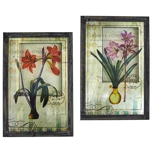 Framed French Floral Art Prints (Set of 2) Accessory
