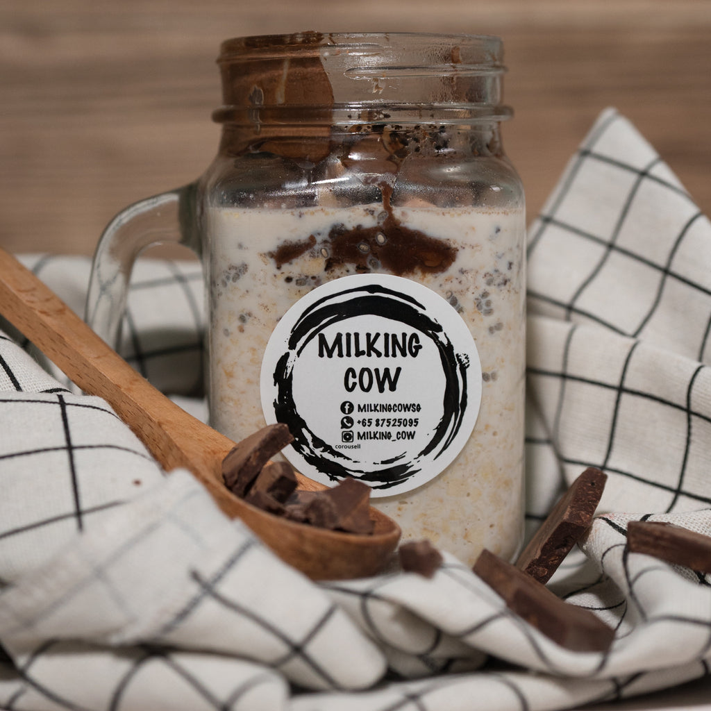 Chocolate Indulgence Overnight Oats - milkingcowsg