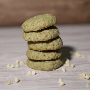 Matcha White chocolate and pistachio Lactation Cookies - milkingcowsg