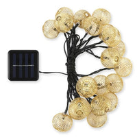 1PCS 20 LEDs Iron Lantern Solar LED String Light