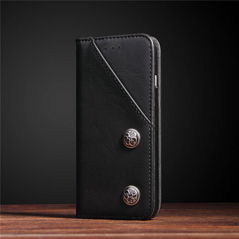 Luxury Retro Rivet Leather Case
