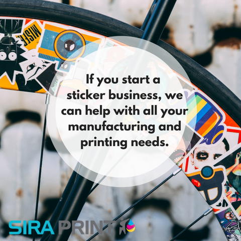 Selling stickers online through Sira Print Inc