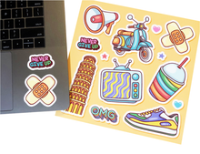 Load image into Gallery viewer, custom sticker sheets Sira print