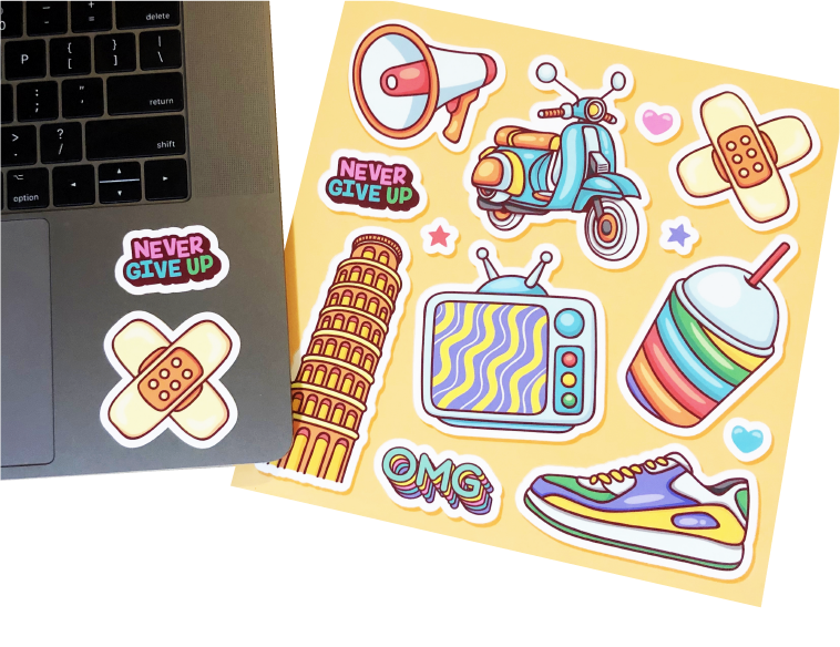 custom sticker sheets Sira print