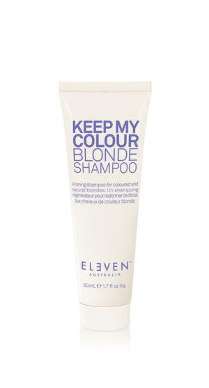 ELEVEN KEEP MY COLOUR BLONDE SHAMPOO TRAVEL SIZE 50ML