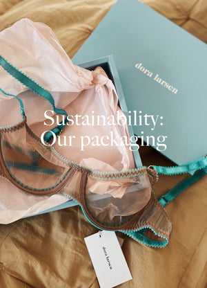 Stories-Sustainability: Our packaging - Dora Larsen | Colourful Lingerie