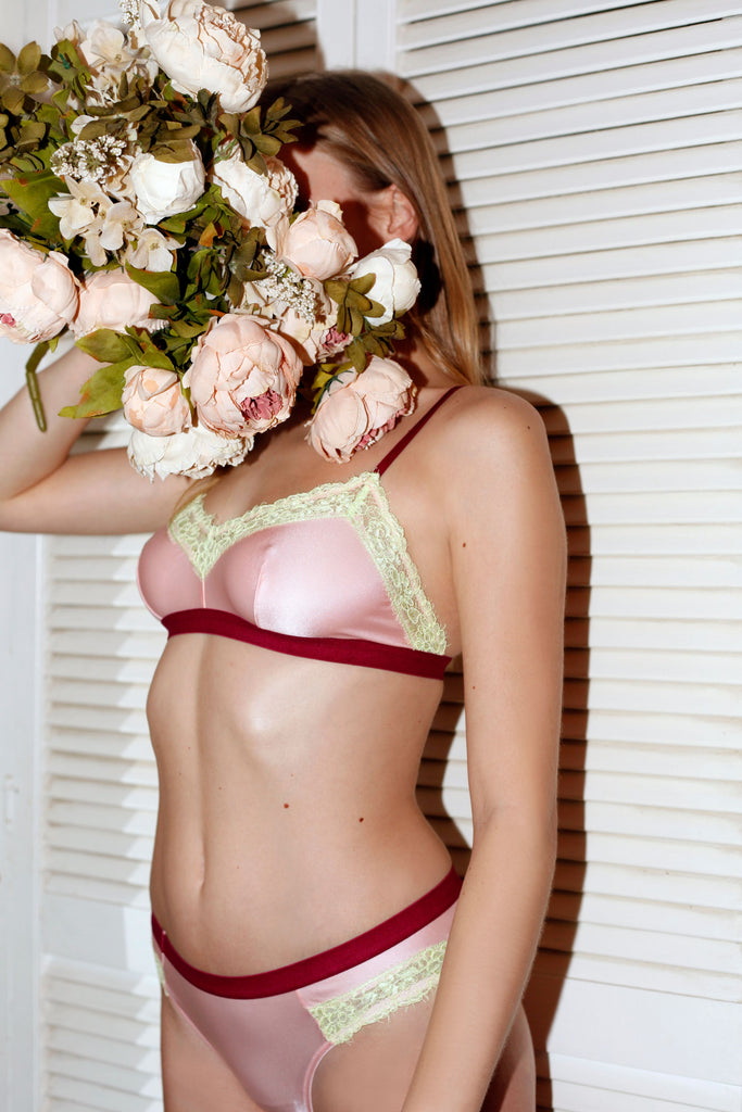 Dora Larsen AW19 lookbook | Colourful Lingerie‎ - Clemence microfibre soft bralette bra and low rise knicker underwear set