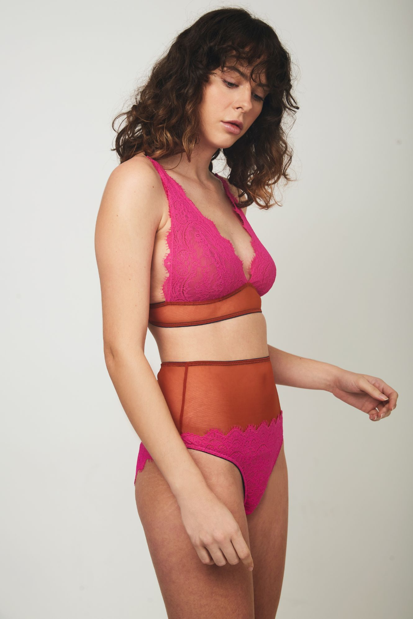 Natalie High Apex Triangle Bra - Dora Larsen | Colourful Lingerie