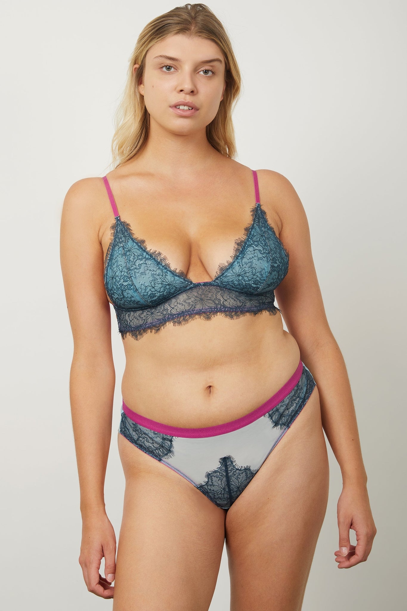 Maria Padded Triangle Bra - Dora Larsen | Colourful Lingerie