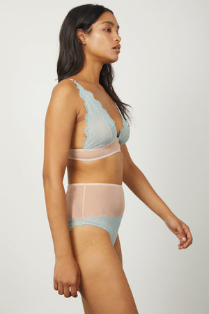 Iris High Apex Triangle Bra - Dora Larsen | Colourful Lingerie