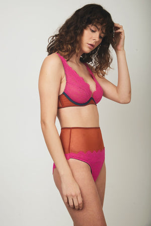 Natalie High Waist Knicker - Dora Larsen | Colourful Lingerie