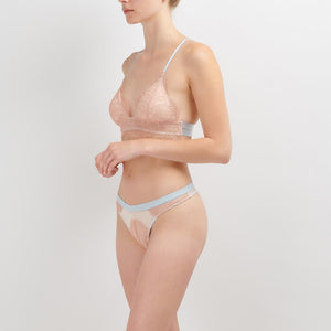 Dora Larsen AW19 | Colourful Lingerie‎ - Amie padded triangle bralette soft bra and thong low rise knicker underwear set