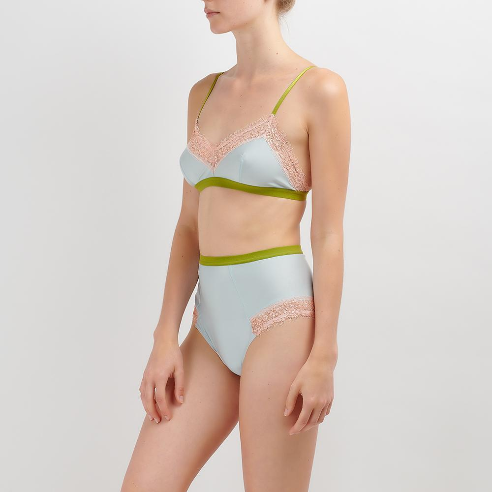 Dora Larsen AW19 | Colourful Lingerie‎ - Bonnie soft bra bralette and high waist knicker underwear set