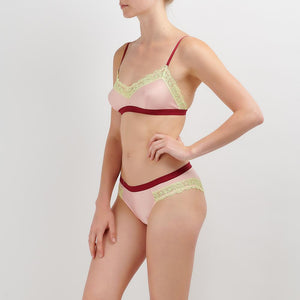 Dora Larsen AW19 | Colourful Lingerie‎ - Clemence soft bra bralette and low rise knicker underwear set