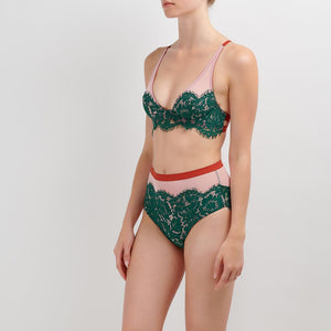 Dora Larsen AW19 | Colourful Lingerie‎ - Cleo high apex underwire bra and high waist knicker underwear set