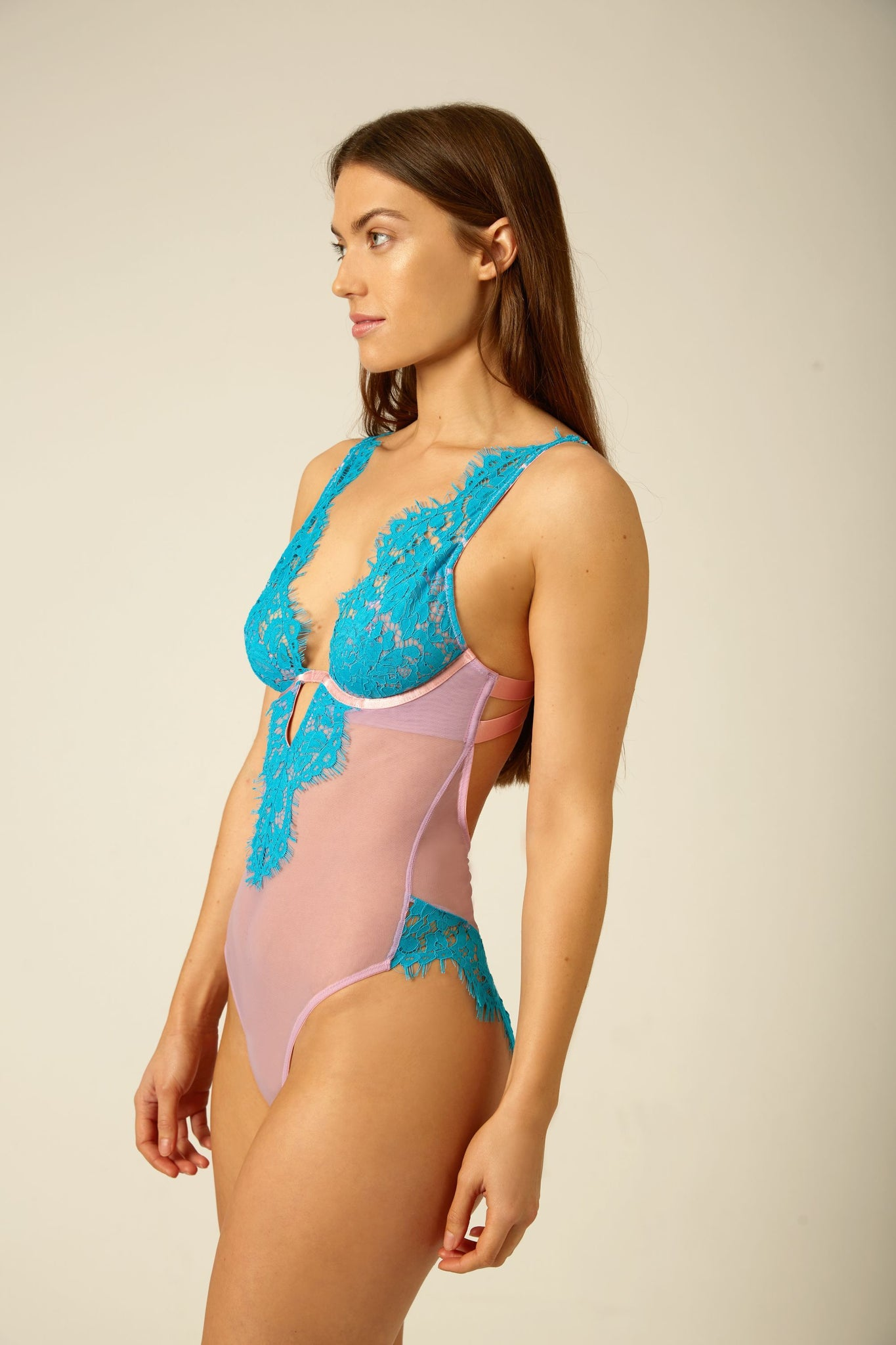 Lucia V-Neck Body - Dora Larsen | Colourful Lingerie‎