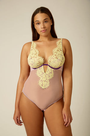 Evie V-Neck Body - Dora Larsen | Colourful Lingerie‎
