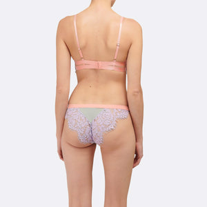 Dora Larsen AW19 | Colourful Lingerie‎ - Olivia high apex underwire bra and low rise knicker tanga underwear set