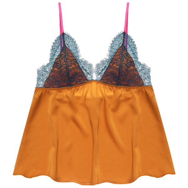 Dora Larsen AW19 | Colourful Lingerie‎ - Laura lace night cami nightwear set