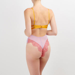 Dora Larsen AW19 | Colourful Lingerie‎ - Sadie v-neck body bodysuit underwear set