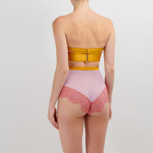 Dora Larsen AW19 | Colourful Lingerie‎ - Sadie strapless underwire bra and high waist knicker underwear set