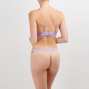 Dora Larsen AW19 | Colourful Lingerie‎ - Sophie soft padded triangle bra bralette and low rise knicker thong underwear set