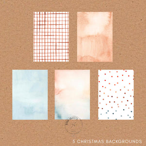 Christmas Watercolor Paper Textures