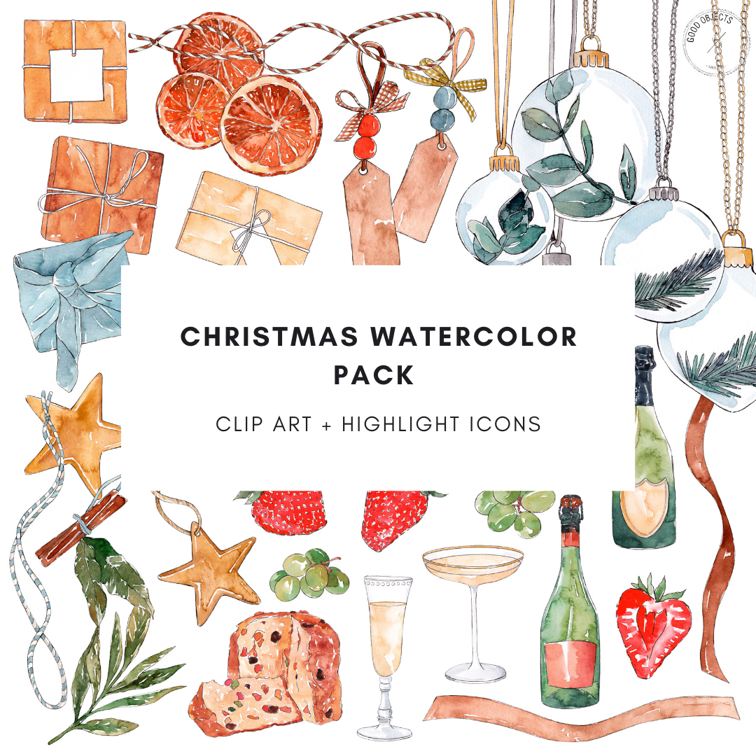 Christmas Watercolor Pack