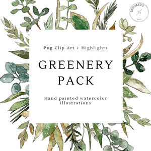 greenery leaves illustrations