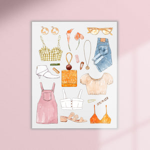 printable fashion digital download