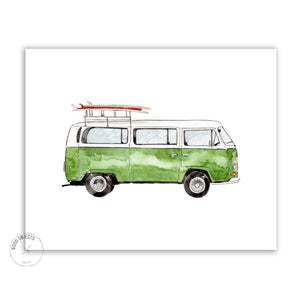 green mini van digital download