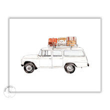 Load image into Gallery viewer, vintage truck watercolor illustration