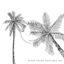 Load image into Gallery viewer, black palms printable art