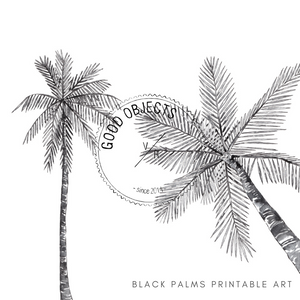 black palms printable art