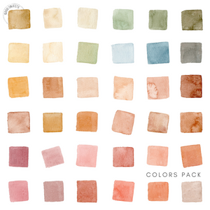 highlight icons watercolor palette