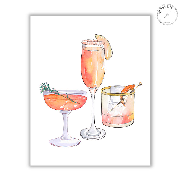 drink watercolor illustration