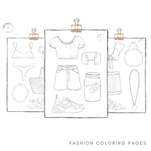 Load image into Gallery viewer, fashion coloring pages