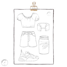 Load image into Gallery viewer, printable fashion coloring page