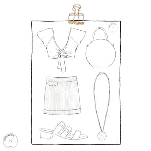 graphic about Printable Fashion identified as 3 Printable Design and style Coloring Web pages - Electronic Obtain