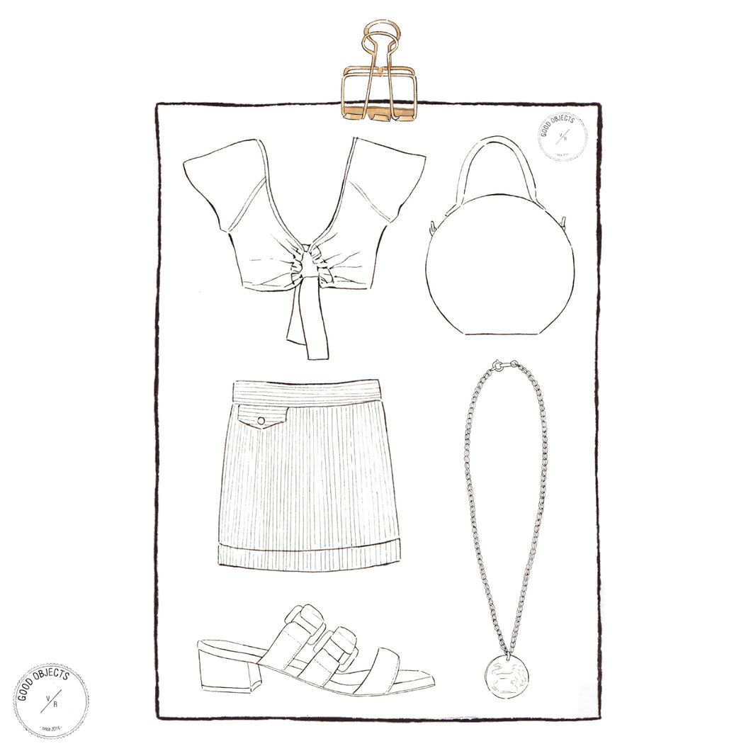 3 Printable Fashion Coloring Pages - Digital Download